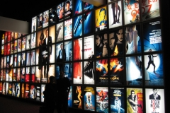 James Bond Movie Montage, Duratrans Backlit Display;